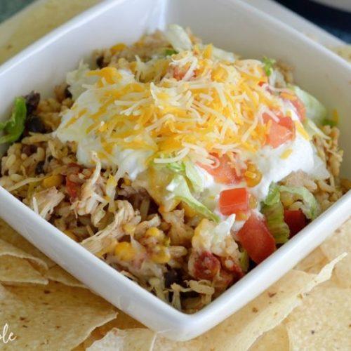 Recipes Simple Instant Pot Chicken Burrito Bowls